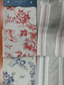 Seraphin 綿麻 ブルー ローズ